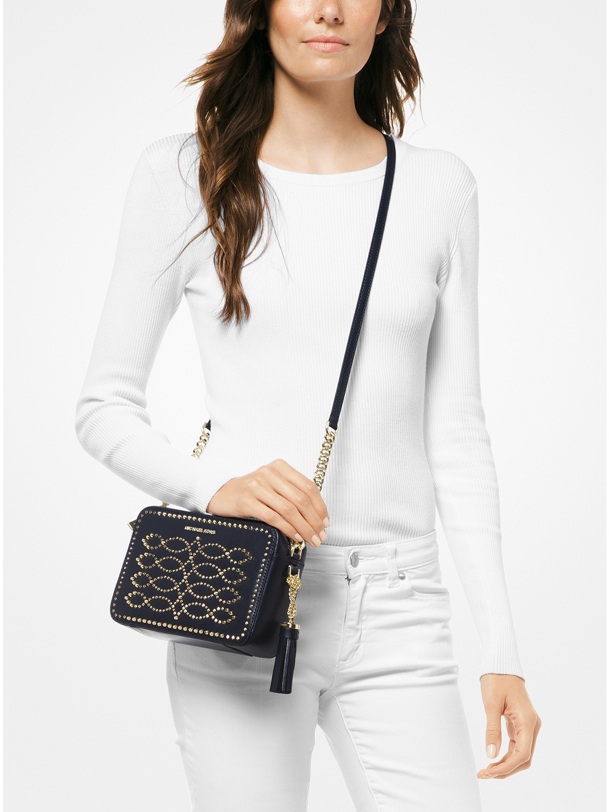 9c067a36455f Michael Kors Ginny Medium Studded Leather Crossbody at £225 | love ...