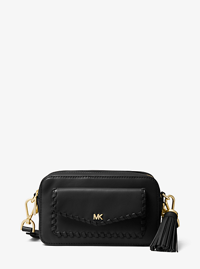 Small Whipsched Leather Camera Bag Michael Kors