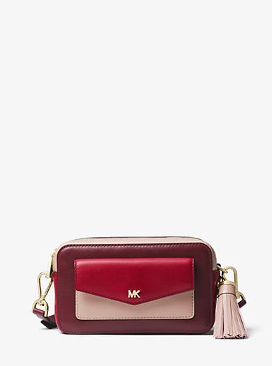 Small Tri Color Leather Camera Bag Michael Kors