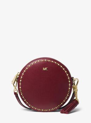 a7583575ae4c Studded Leather Canteen Crossbody Bag   Michael Kors