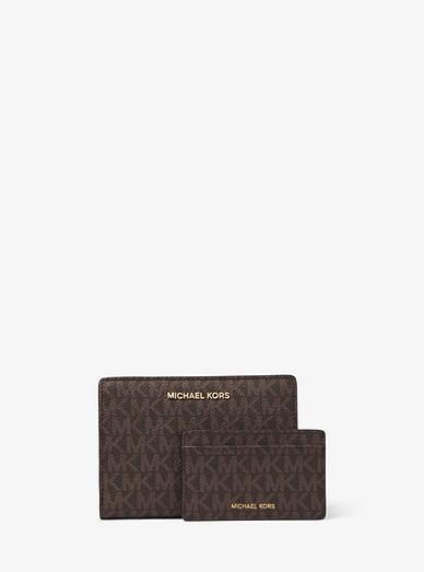 6fb67bdff04a Medium Logo Slim Wallet | Michael Kors