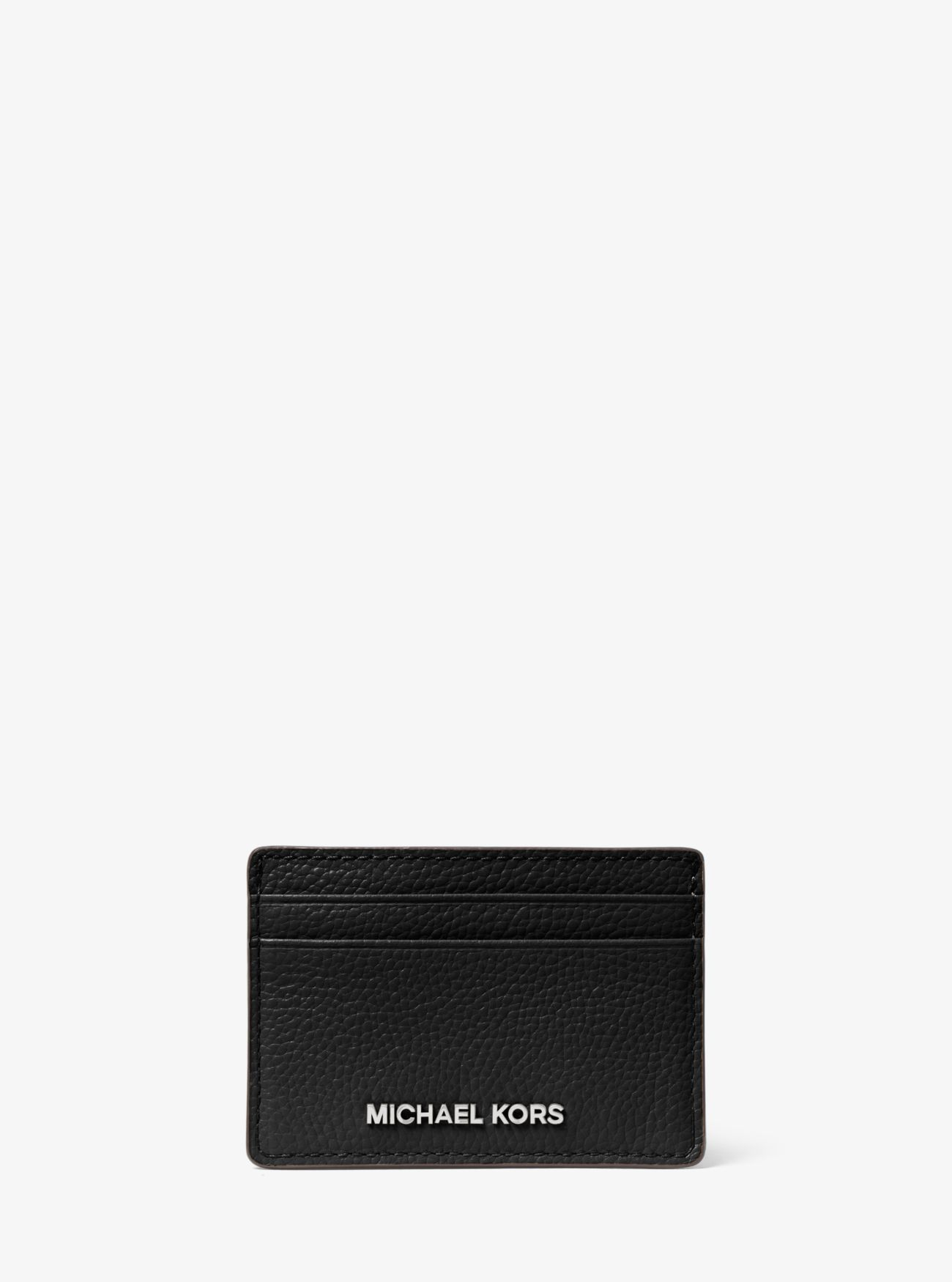 porte carte michael kors Pebbled Leather Card Case | Michael Kors