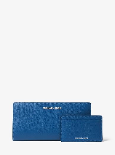 115a7ba5f972 Large Crossgrain Leather Slim Wallet   Michael Kors