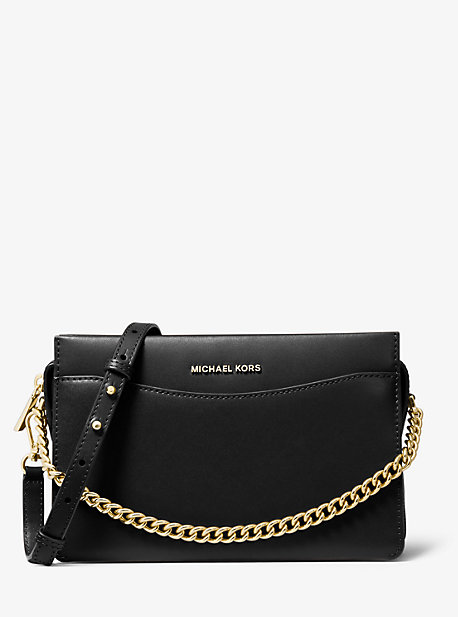 Large Crossgrain Leather Dome Crossbody Bag | Michael Kors