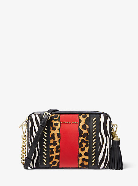 Jet Set Medium Calf Hair and Leather Camera Bag | Michael Kors