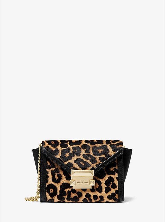 Whitney Mini Leopard-Print Calf Hair Convertible Crossbody Bag
