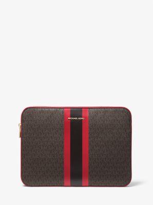 마이클 마이클 코어스 랩탑 케이스 15인치 Michael Michael Kors Jet Set Logo Stripe 15 Inch Laptop Case