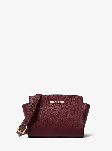 Selma Mini Saffiano Leather Crossbody