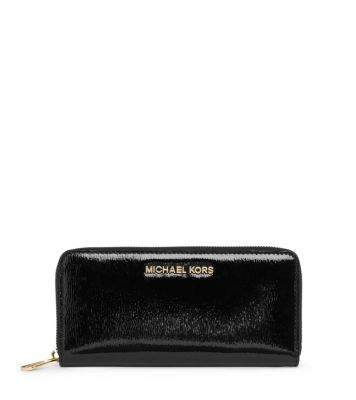 cd0ff25395f5 Jet Set Travel Patent-Leather Wallet | Michael Kors