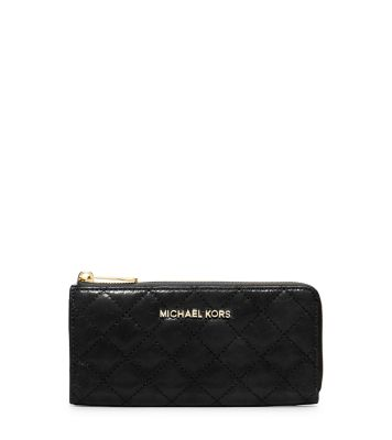Susannah Quilted-Leather Wallet | Michael Kors : black quilted wallet - Adamdwight.com