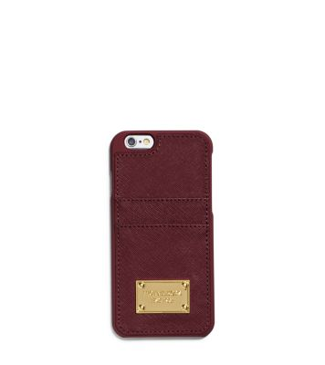 Saffiano Leather Pocket Smartphone Case for iPhone 6