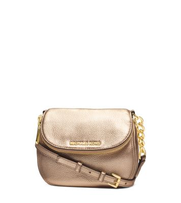 bedford metallic leather crossbody michael kors rh michaelkors com