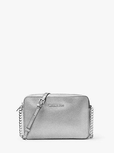 michael kors black bag silver chain michael kors crossbody leather coral