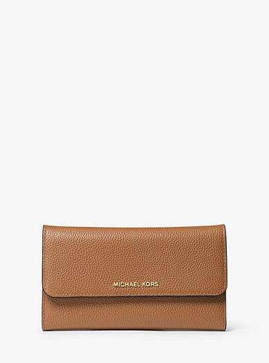 b674149e8f3634 Tri-fold Leather Wallet | Michael Kors