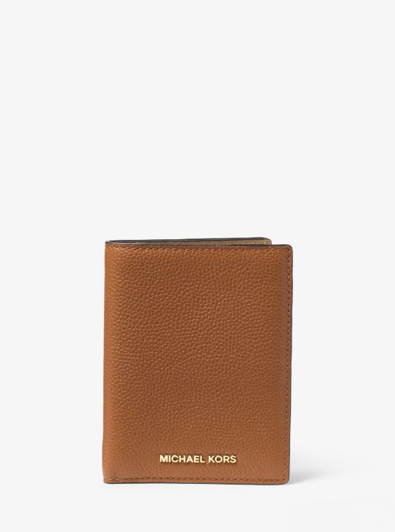 Jet Set Travel Leather Passport Wallet by Michael Michael Kors