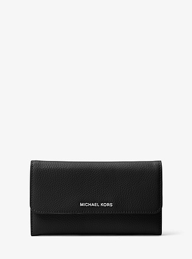 990d591b18a6 Tri-fold Leather Wallet | Michael Kors