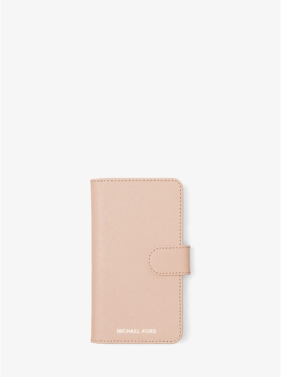302782ad0678 Saffiano Leather Folio Phone Case for iPhone X preview0 ...