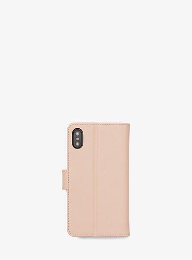 Saffiano Leather Folio Phone Case For Iphone X  d15548ce1fc9b