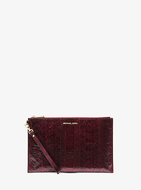 9ed6f5554594 Extra-Large Snakeskin Clutch