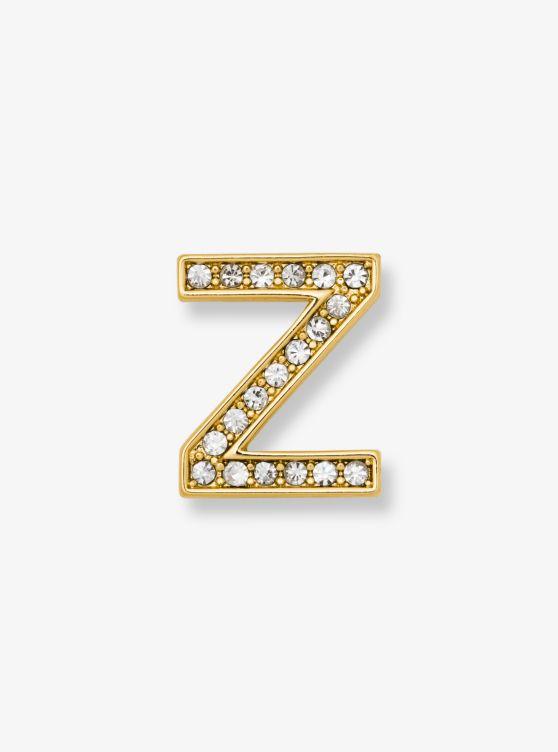 Michael Kors Pave Gold-Tone Alphabet Pin wIchM