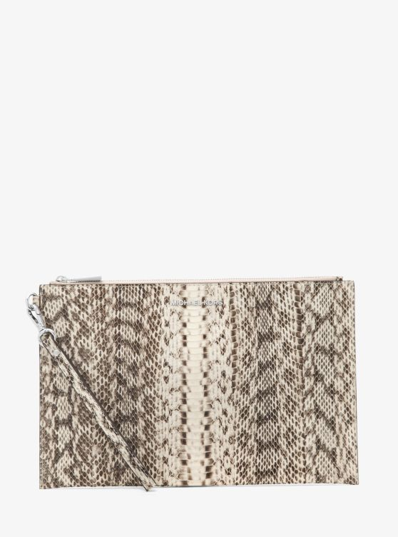 Jet Set Extra-Large Snakeskin Clutch