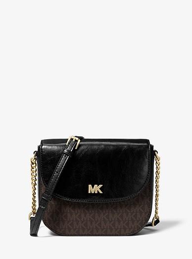 d739f3f0b3afa7 Mott Logo And Leather Dome Crossbody Bag | Michael Kors