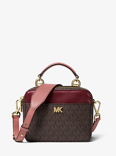 Mott Mini Logo And Leather Crossbody Michael Kors