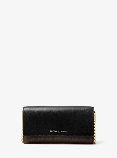 Large Logo and Leather Convertible Chain Wallet · michael michael kors ... bccef4aad49e