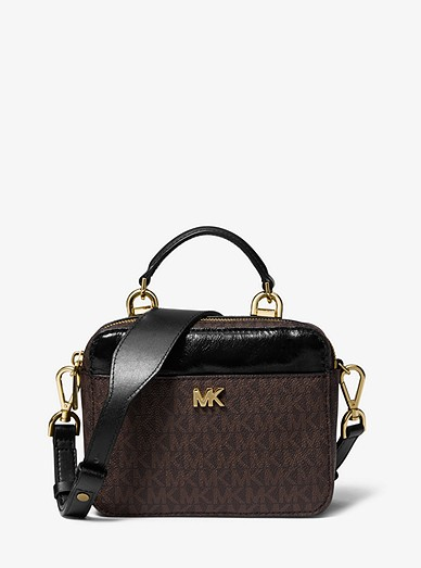 6d72a9146f24 Mott Mini Logo And Leather Crossbody Bag | Michael Kors