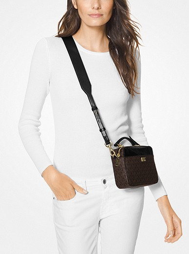 2fb2f4f606b5 Mott Mini Logo and Leather Crossbody Bag. MICHAEL Michael Kors