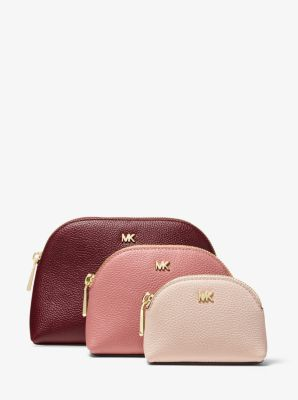 Tri Color Pebbled Leather Travel Pouch Trio by Michael Michael Kors