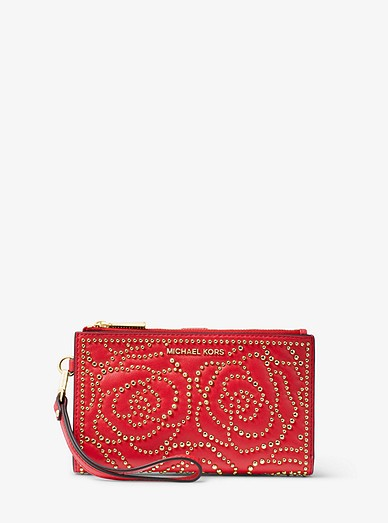 7f587aaf1446e Adele Rose Studded Leather Smartphone Wallet | Michael Kors