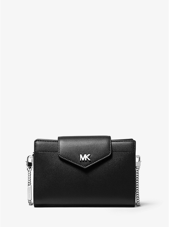 968d9e7efc9 Medium Crossgrain Leather Crossbody Clutch | Michael Kors