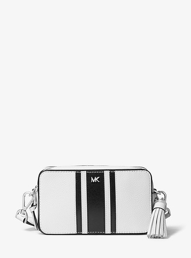 8586444d4 Small Logo Tape Camera Bag | Michael Kors