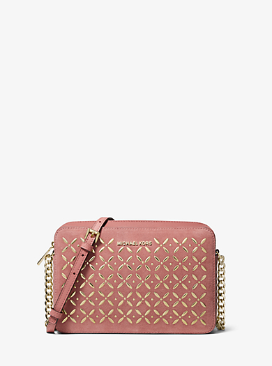 6b70846cf1ae Jet Set Large Embellished Leather Crossbody | Michael Kors