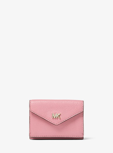 a222a135efb250 Small Pebbled Leather Tri-fold Envelope Wallet | Michael Kors