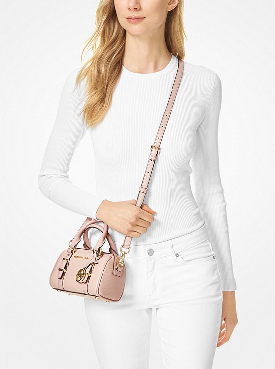 Bedford Legacy Extra-Small Pebbled Leather Duffle Crossbody Bag