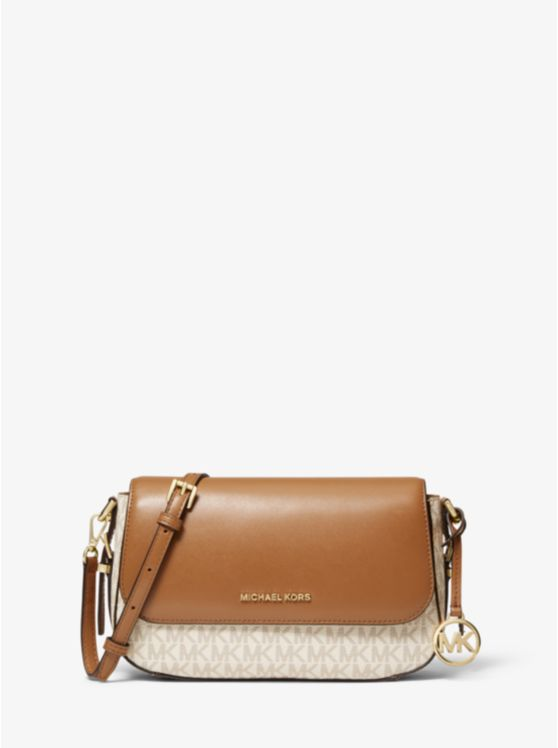 Bedford Legacy Large Logo and Pebbled Leather Crossbody Bag