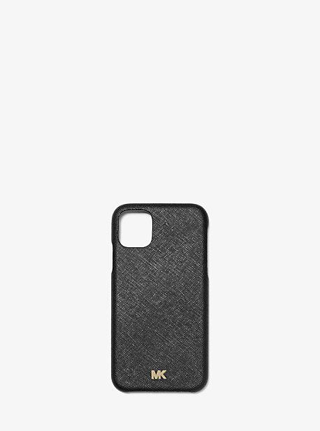 마이클 마이클 코어스 아이폰 11 프로 케이스 Michael Michael Kors Saffiano Leather Phone Cover for iPhone 11 Pro,BLACK