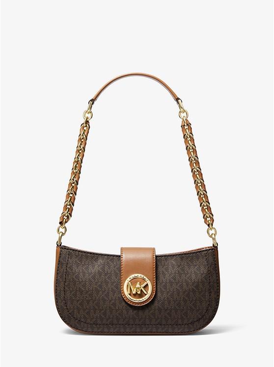 Très petit sac porté épaule Carmen avec logo