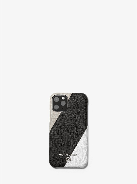 Color Block Logo Phone Cover For Iphone 11 Pro Michael Kors
