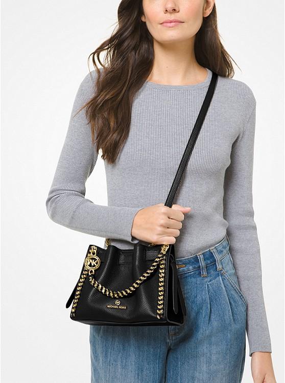 Mina Small Pebbled Leather Crossbody Bag