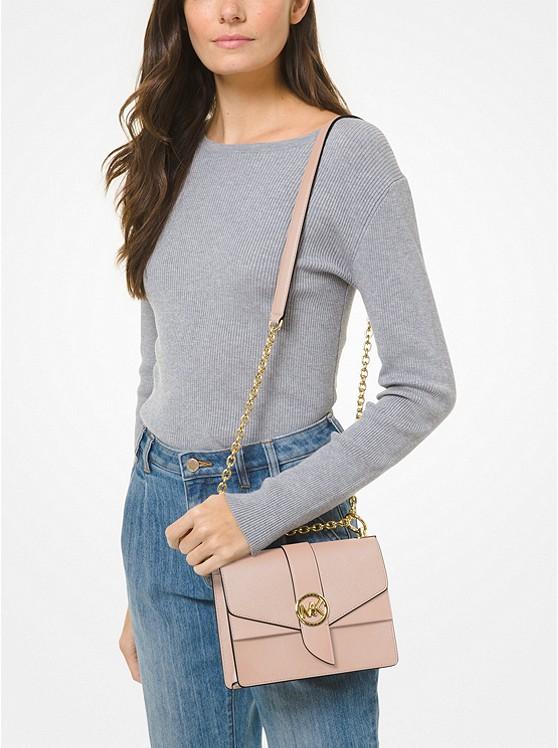 Greenwich Small Saffiano Leather Crossbody Bag SOFT PINK