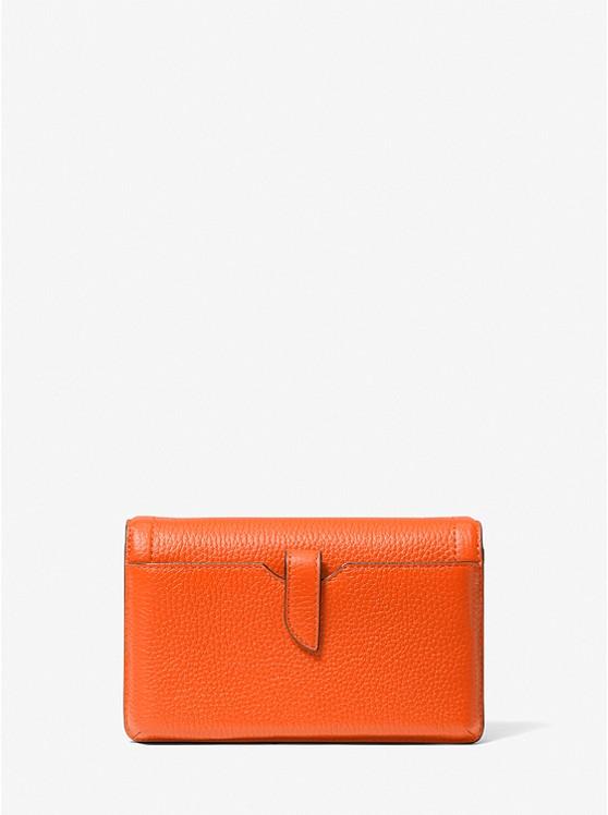 Jet Set Small Pebbled Leather Smartphone Convertible Crossbody Bag CLEMENTINE