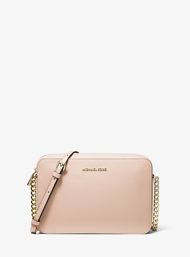 d6660add51c0 Jet Set Large Saffiano Leather Crossbody Bag | Michael Kors