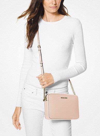 48052e662466 Jet Set Large Saffiano Leather Crossbody Bag. Jet Set Large Saffiano  Leather Crossbody Bag. MICHAEL Michael Kors