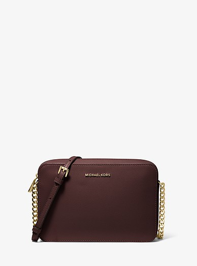 neu billig großartiges Aussehen Großhandelspreis Jet Set Large Saffiano Leather Crossbody Bag | Michael Kors