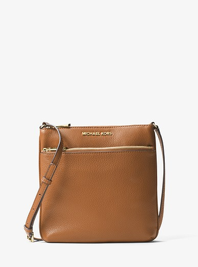 2f81cf673e55 Riley Small Pebbled Leather Messenger Bag | Michael Kors