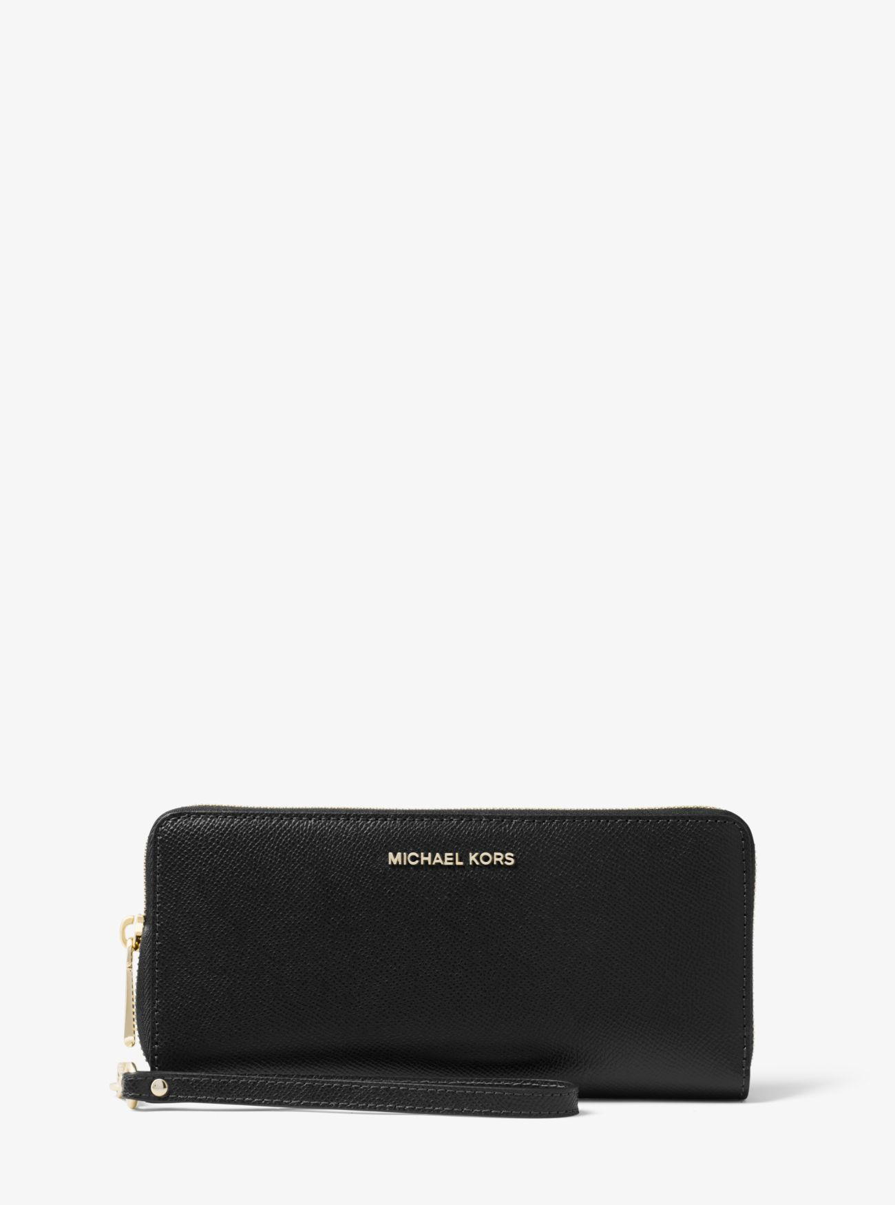 Michael kors bags in dubai - Jet Set Travel Leather Continental Wristlet