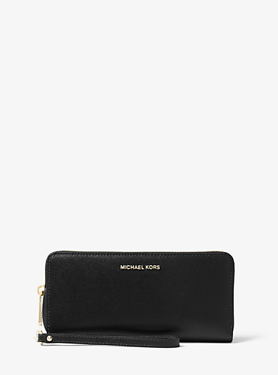 5805038176cb Leather Continental Wristlet · michael michael kors ...